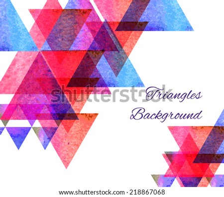 Hipster pyramid background pattern.