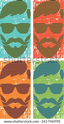 Hipster retro artwork for t-shirt and poster.Pop art style - stock vector