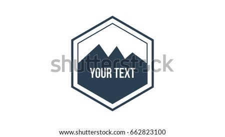 Hipster Retro Flat Design Vector Hexagon Stock Photo Photo Vector