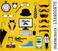 Hipster set. - stock vector