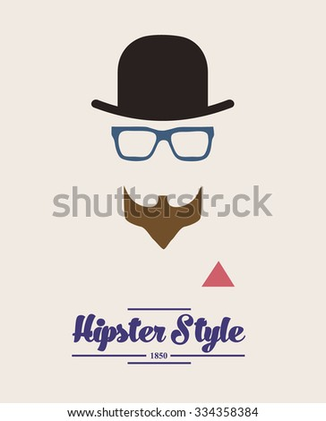 hipster style background - stock vector