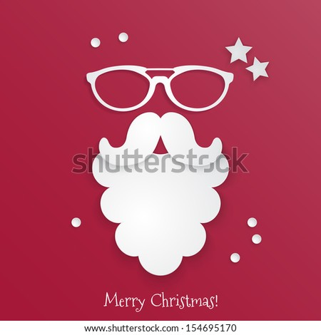 Hipster style Christmas greeting card design. Vector illustration - stock vector