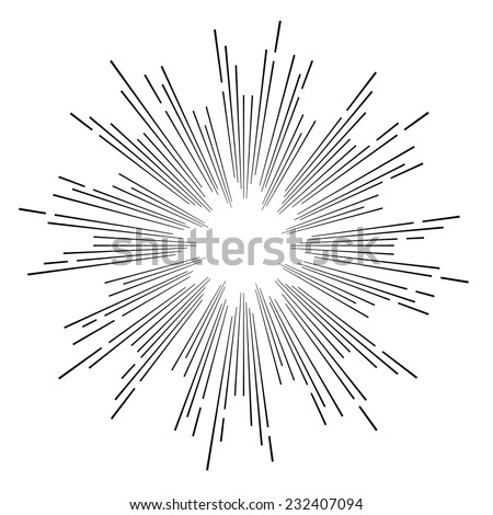 hipster style vintage vector monochrome star burst with ray - stock vector