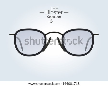 Hipster sunglasses, Hipster man. Vector illustration.
