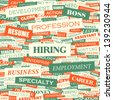 HIRING. Word cloud concept illustration. - stock photo