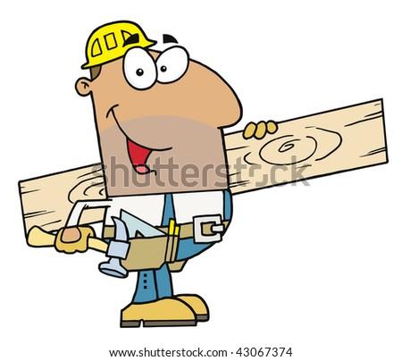 Hispanic Worker Man - stock vector