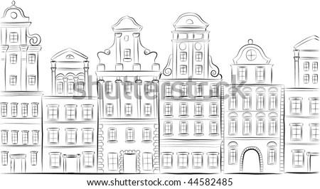 Historical buildings. Element for design vector illustration. - stock vector