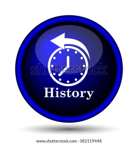 History icon. Internet button on white background. EPS10 vector