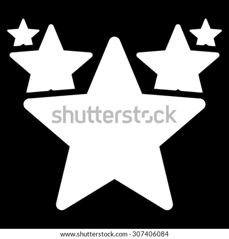 Hit parade icon. Vector style is flat symbols, white color, rounded angles, black background.