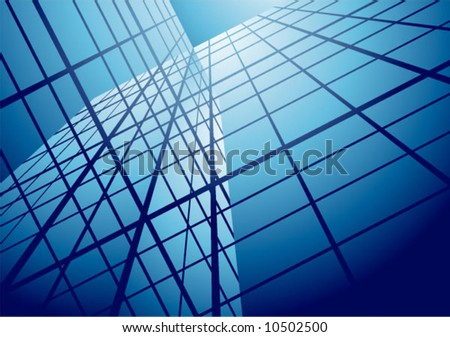 Hitech building marine - stock vector