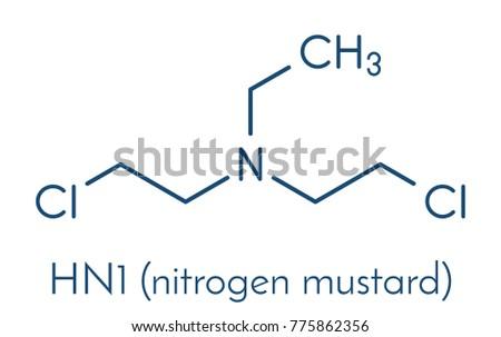 hn1 nitrogen mustard molecule skeletal formula