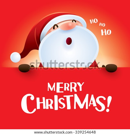 HO HO HO! Merry Christmas!  - stock vector