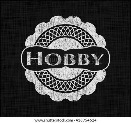 Hobby chalk emblem - stock vector