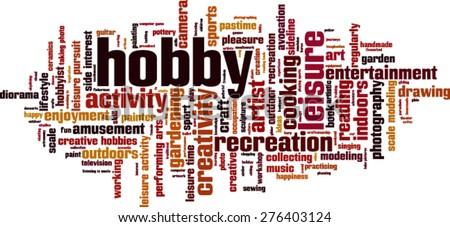 Hobby word cloud concept. Vector illustration - stock vector