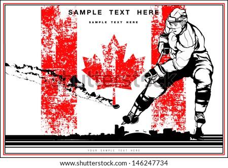 Hockey - stock vector