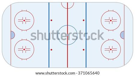 Hockey arena - stock vector