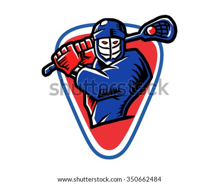 hockey character illustration logo icon vector