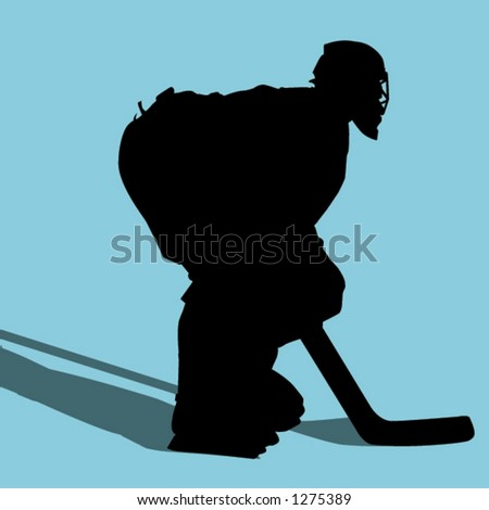 hockey goalie - stock vector