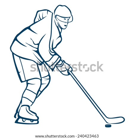 Hockey Player in Action.