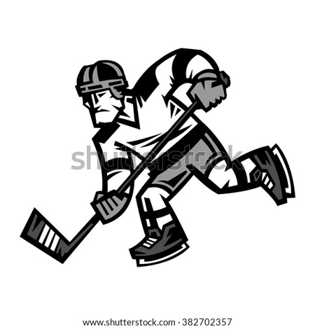 Hockey Player vector illustration