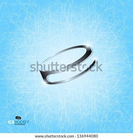 Hockey puck - abstract Vector logotype - stock vector