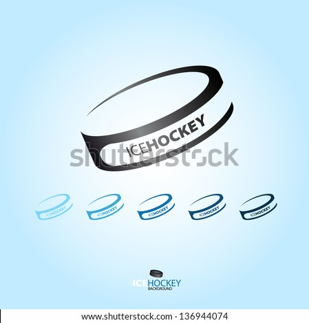 Hockey puck - abstract Vector logotype - various type - stock vector