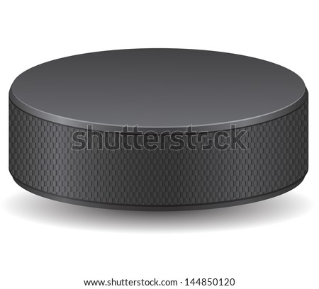 hockey puck vector illustration isolated on white background - stock vector