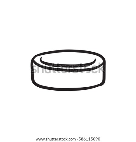 Hockey puck drawing