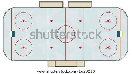 hockey rink - stock vector