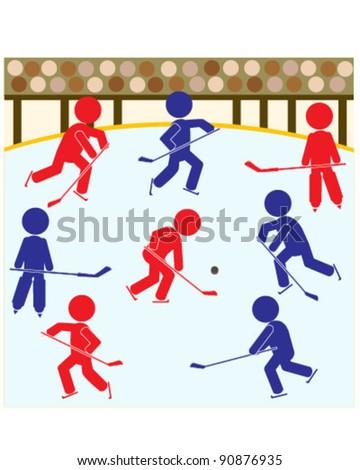 Hockey Teams Icon - stock vector