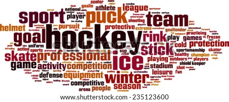Hockey word cloud concept. Vector illustration - stock vector