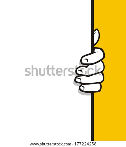 Holding board - stock vector