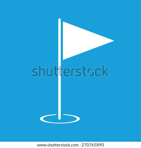 Hole Course web white icon isolated on a blue background. Vector symbol - stock vector