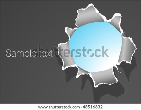 Hole in the paper. Vector template. - stock vector