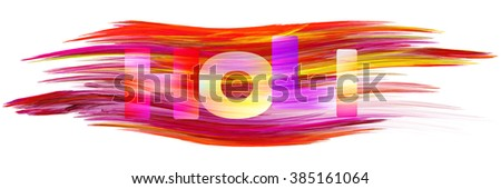 Holi abstract bright banner. Vector graphic paint pattern - stock vector