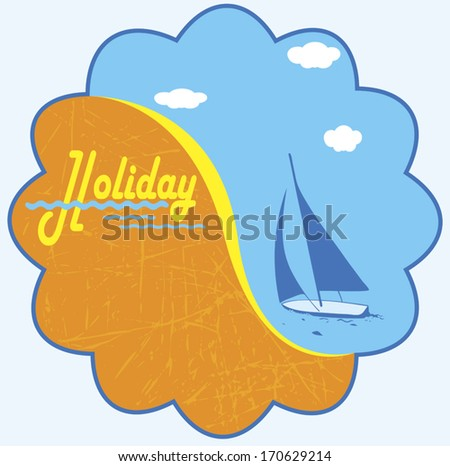 Holiday - stock vector