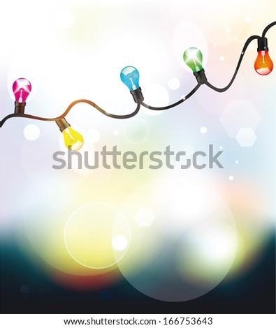 Holiday abstract background with colorful garland
