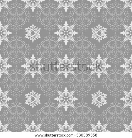 Holiday Background, Snowflake Abstract Background, Snowflake Pattern, snowflake background, snowflake template, snowflake designs, snowflake decorations, Christmas Decoration, Grey Background, vector - stock vector