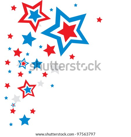 holiday background stars - stock vector