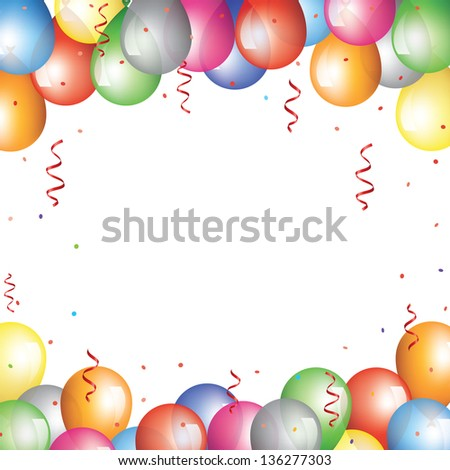 Holiday background balloon border stock vector royalty free holiday background with balloon border thecheapjerseys Images