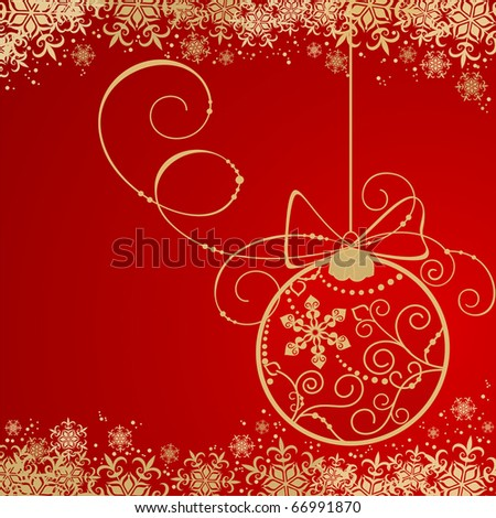 Holiday background with Christmas decorations - stock vector