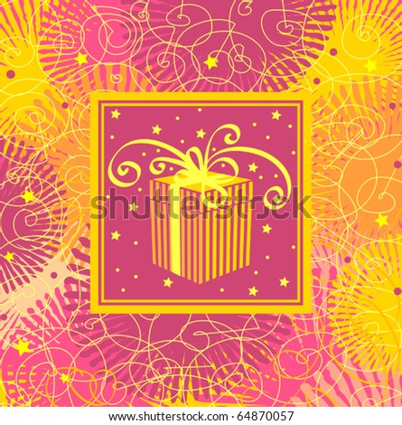 Holiday background with gift box - stock vector