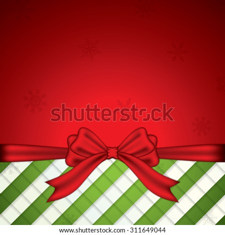 Holiday background with ribbon and bow - stock vector