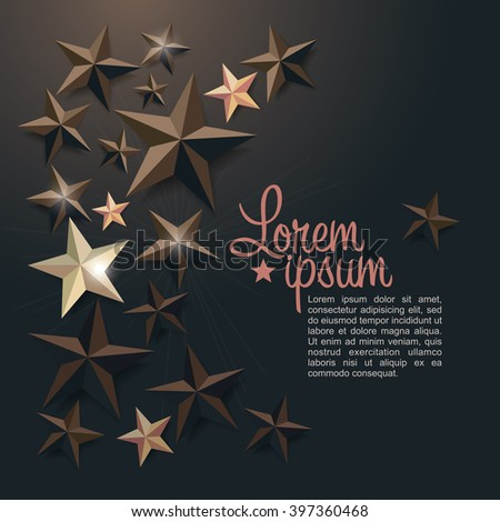 holiday background with stars - stock vector