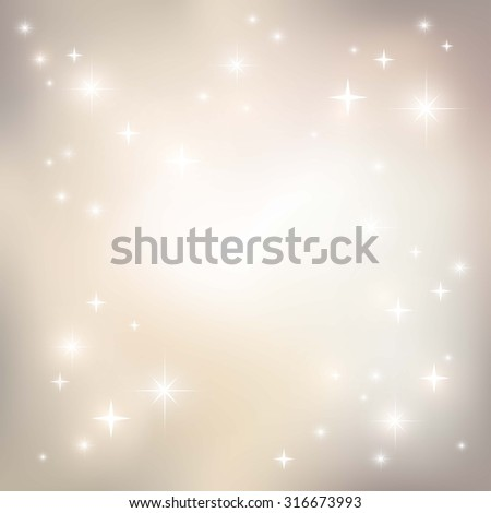 Holiday background with stars. Invitation or greeting card design. Place for text