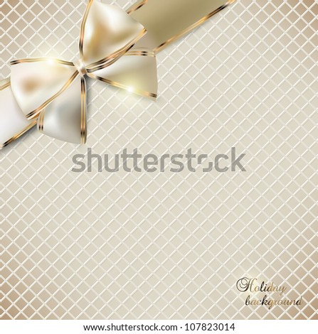 Holiday banner with ribbons. Vector background. - stock vector