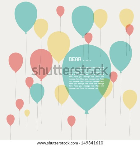 Holiday banners with balloons. - stock vector
