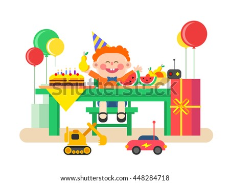 Holiday child birthday - stock vector