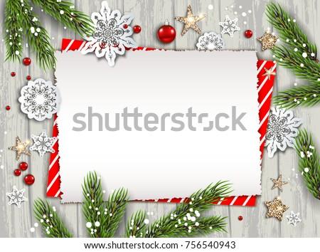 holiday christmas card fir tree festive stock vector royalty free