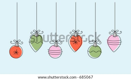 Holiday Christmas Ornaments